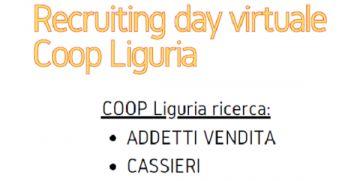 RECRUTING DAY VIRTUALE COOP LIGURIA - RICERCA ADDETTI VENDITA E CASSIERI
