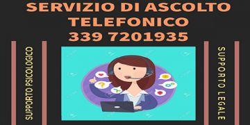 SERVIZIO DI ASCOLTO TELEFONICO - 339.7201935 - DAL LUNEDI\' AL VENERDI\' DALLE ORE 14:00 ALLE 16:00